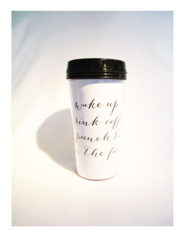 TAKE AWAY CUP - WAKE UP...
