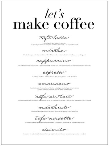 LET'S MAKE COFFEE