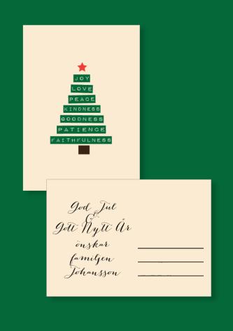 JULKORT CHRISTMAS TREE