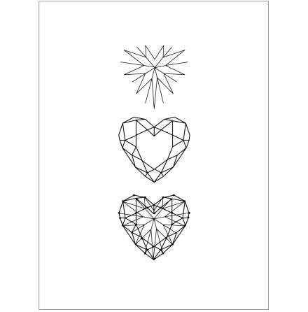 STAR HEART BLACK