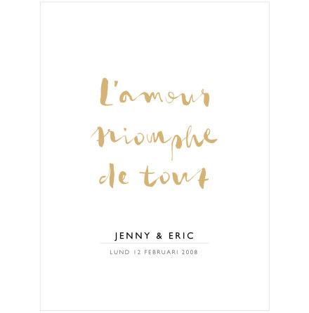 L'AMOUR TRIOMPHE