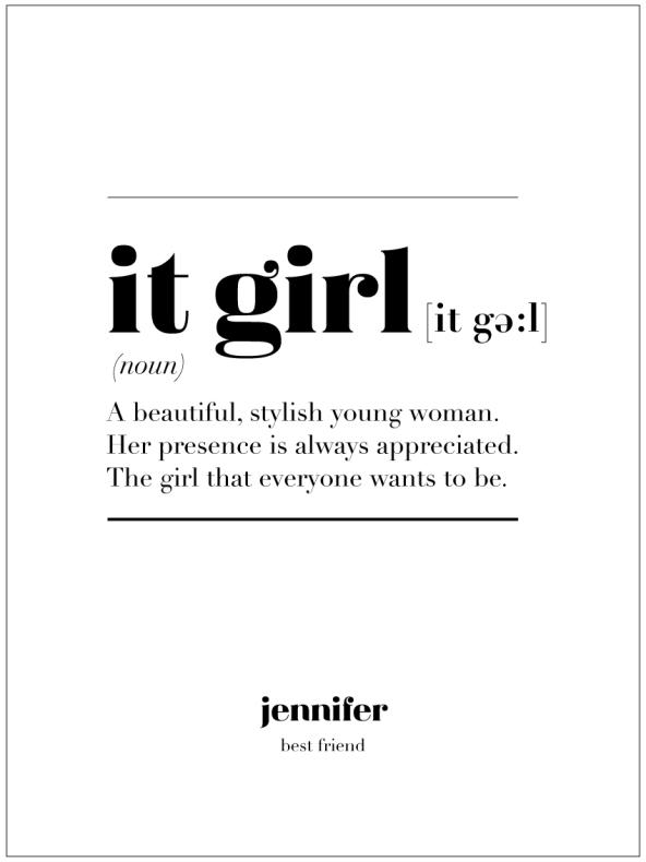 IT GIRL IS
