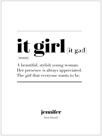 IT GIRL IS