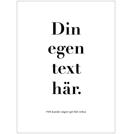 canvastavla med egen text