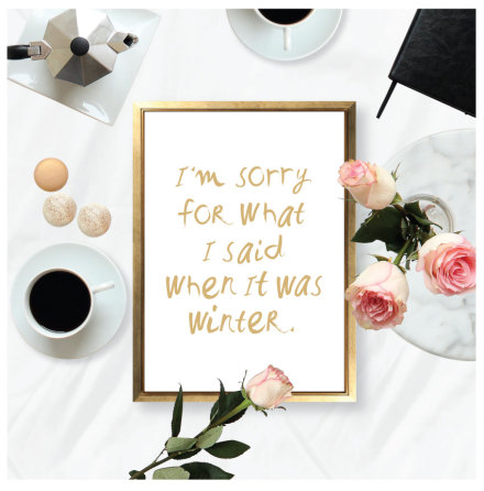 I'M SORRY - WINTER