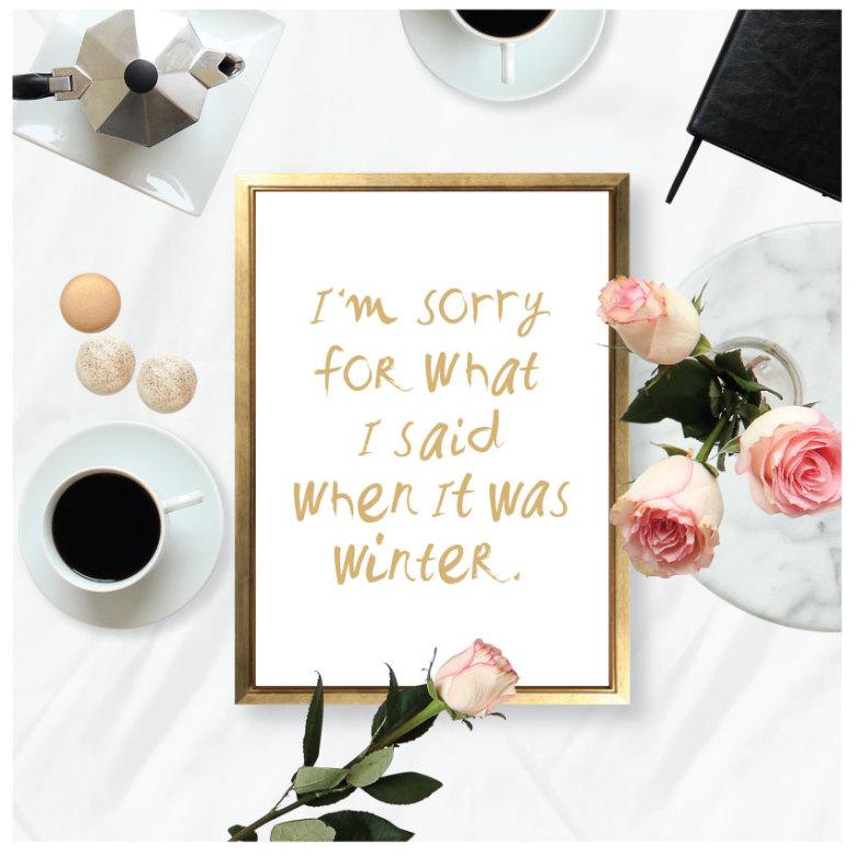 I'M SORRY - WINTER