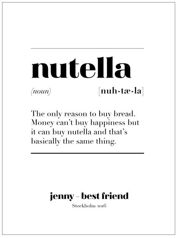 NUTELLA IS