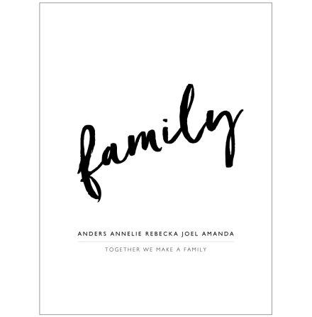 FAMILY familjetavla familjeposter namntavla namnposter