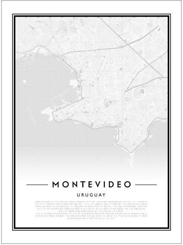 CITY MAP - MONTEVIDEO