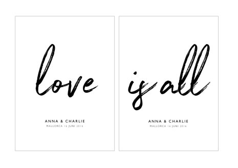 LOVE IS ALL  - PARPOSTERS 2 st posters