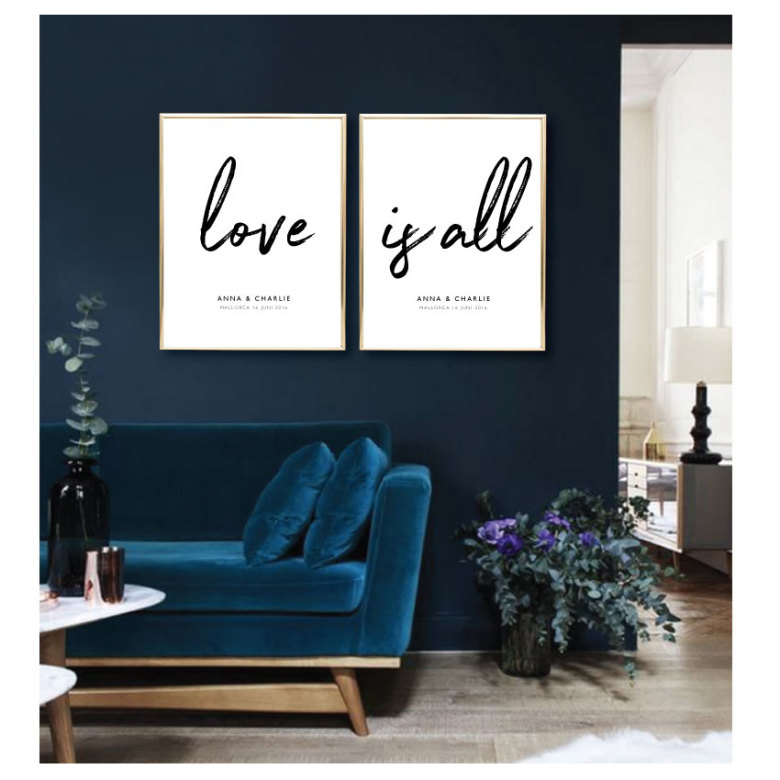 LOVE IS ALL - PARPOSTERS 2 st posters 84277bc6fe6f3