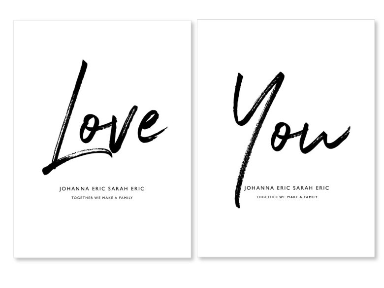 PARPOSTERS - LOVE YOU 2 st posters ee1ecd08256b3