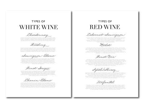 PARPOSTERS -TYPES OF WINE VINPOSTERS VINTAVLOR 2 st posters