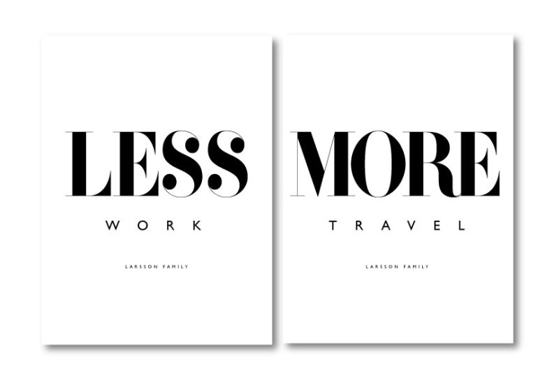 PARPOSTERS - LESS WORK 2 ST POSTERS