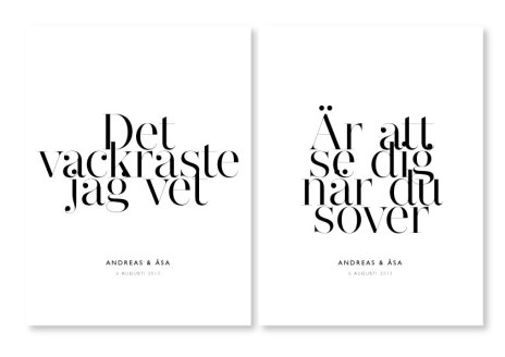 PARPOSTERS - DET VACKRASTE 2 st posters