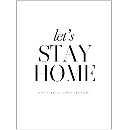 LET'S STAY HOME  - FAMILJETAVLA