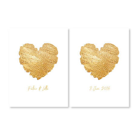 HEART OF GOLD PARPOSTERS 2 st posters