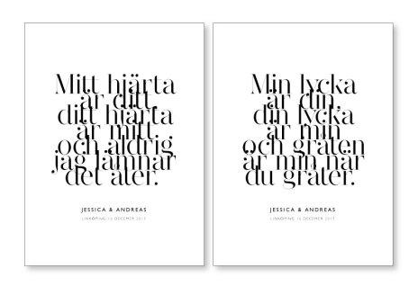 PARPOSTERS - MITT HJÄRTA ÄR DITT 2 st posters
