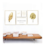 PARPOSTERS - MONSTERA & PALMBLAD GULD 2 st posters