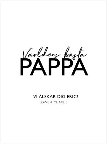 VÄRLDENS BÄSTA PAPPA/MAMMA POSTER