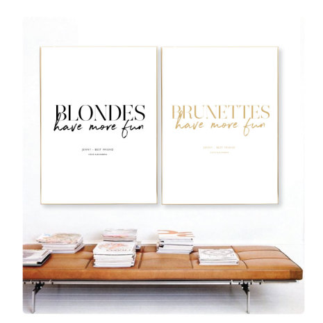 BLONDES HAVE MORE FUN - BRUNETTES HAVE MORE FUN