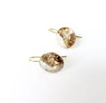 Örhängen med Swarowski® kristaller Donatella Crystal Golden Shadow