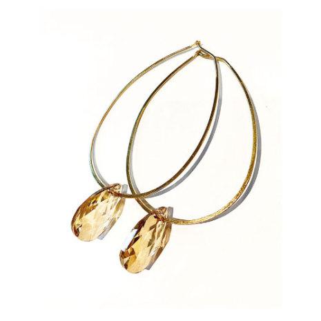 Örhängen med Swarowski® kristaller Lillie Crystal Golden Shadow