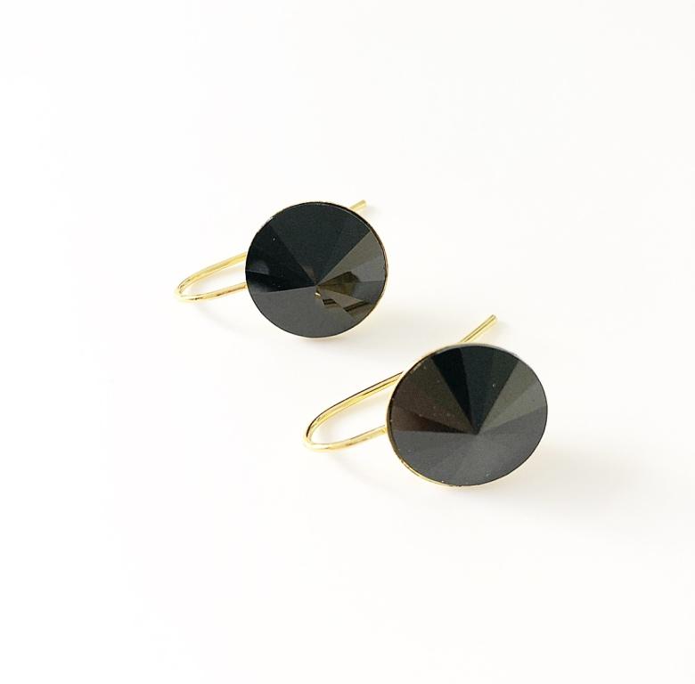 Örhängen med Swarowski® kristaller Blackie
