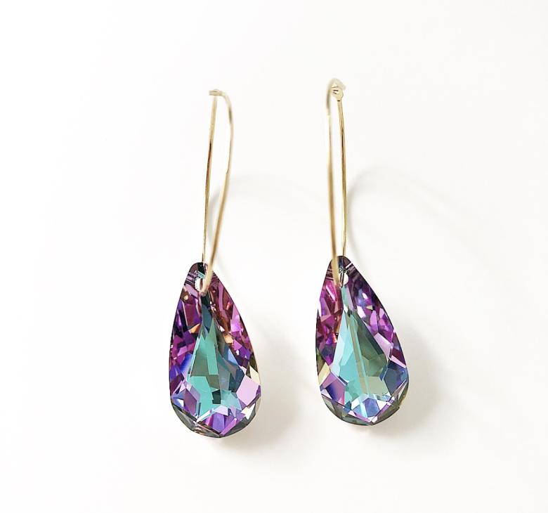 Örhängen med Swarowski® kristaller Verolina Vitrail