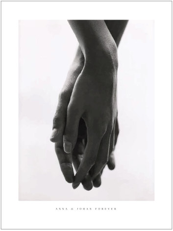 HOLDING HANDS BRÖLLOPSTAVLA