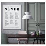 SÅSER POSTER