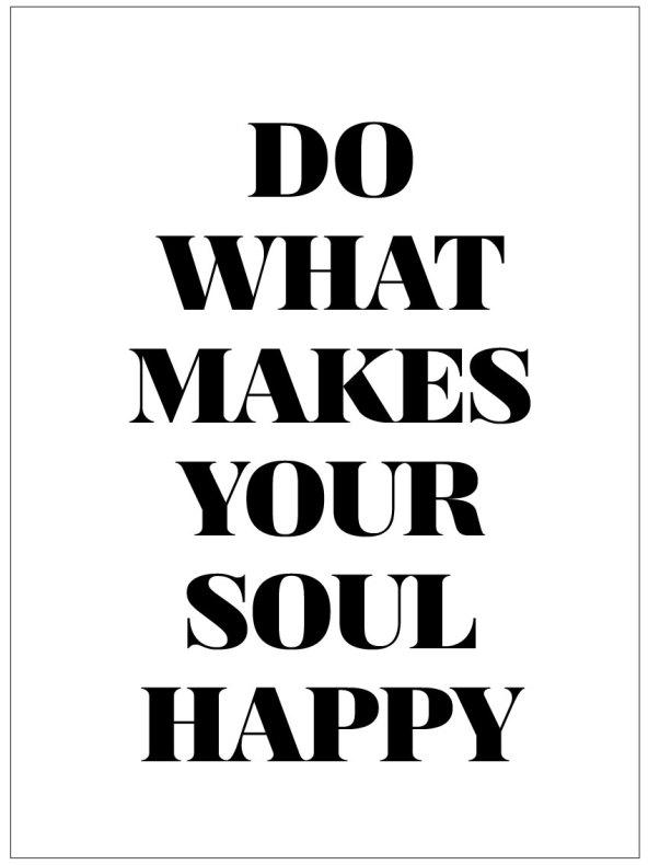 DO WHAT MAKES YOUR SOUL HAPPY CITATPOSTER