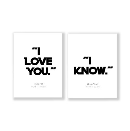 PARPOSTERS - I LOVE YOU STARWARS TYPE 2 st posters