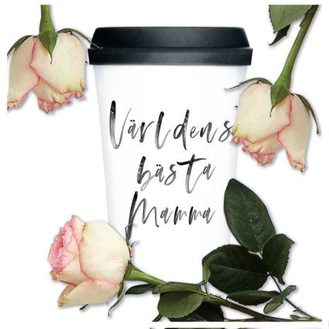 TAKE AWAY CUP - VÄRLDENS BÄSTA MAMMA/PAPPA HANDSKRIVET