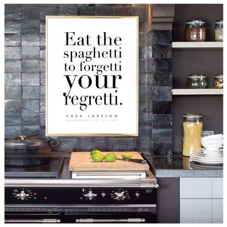EAT THE SPAGHETTI KÖKSTAVLA