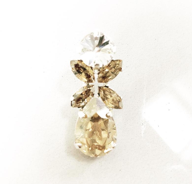 Örhängen med Swarowski® kristaller Flower Shadow