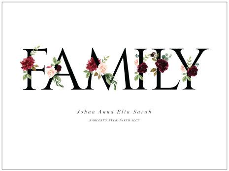 FLOWER FAMILY FAMILJETAVLA