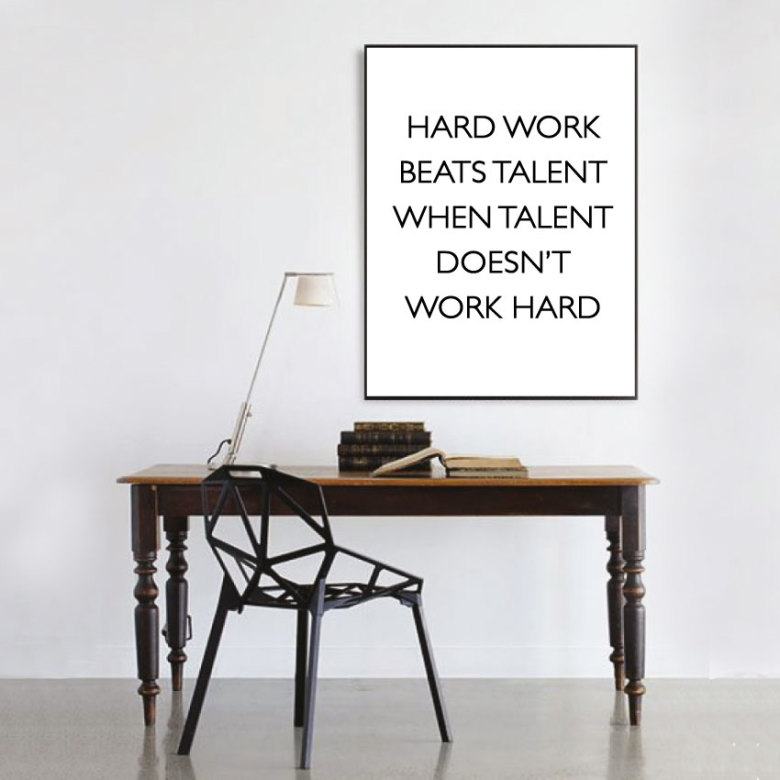 HARD WORK CITATPOSTER