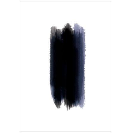 BLUE AND BLACK ARTPRINT