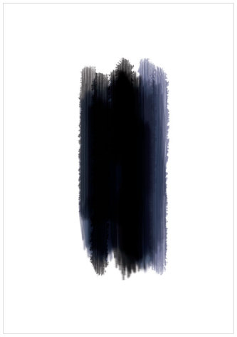 BLUE AND BLACK ARTPRINT