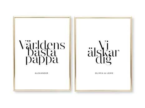 VÄRLDENS BÄSTA PAPPA/MAMMA - PARPOSTERS 2 st posters
