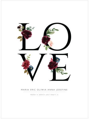 LOVE FLOWERS KÄRLEKSTAVLA