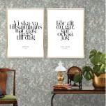 PARPOSTERS - VI SKA VA TILLSAMMANS 2 st posters