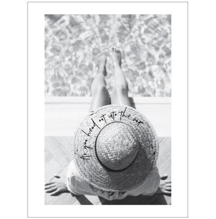 FOTOKONST - KVINNA MED HATT