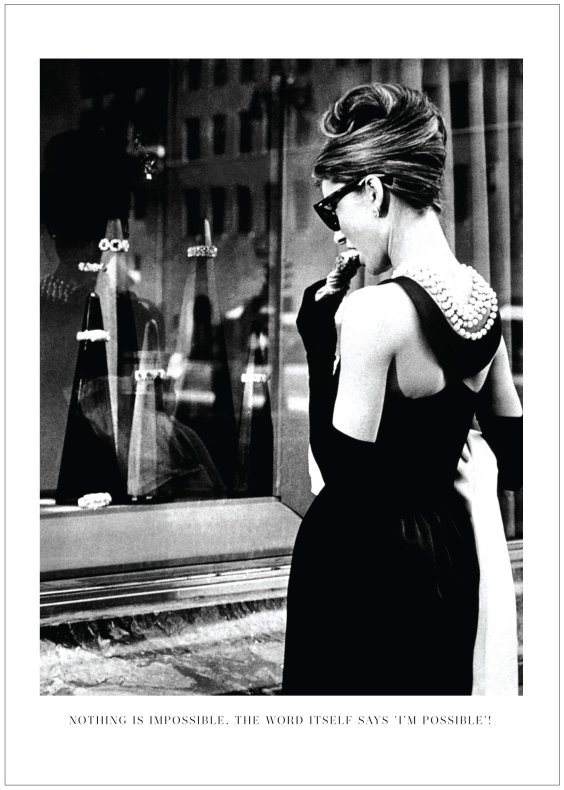 FOTOKONST AUDREY BREAKFAST AT TIFFANY'S