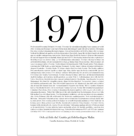 VAD HÄNDE 1970