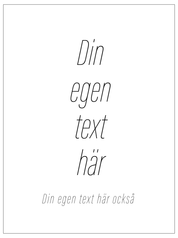 DIN EGEN TEXT DIXHUIT