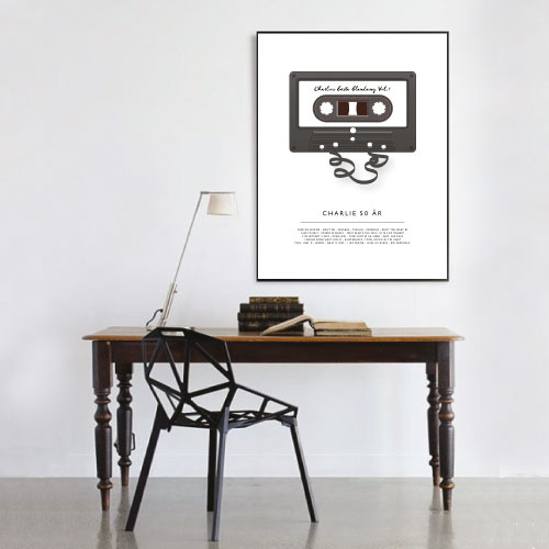 9a04051b153 blandband poster, blandband tavla, petite charlie 50-årstavla, 40-årstavla