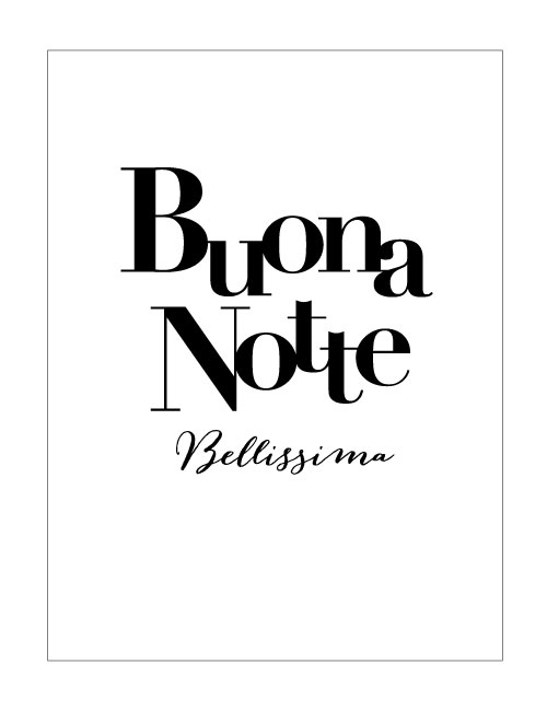poster print buona notte